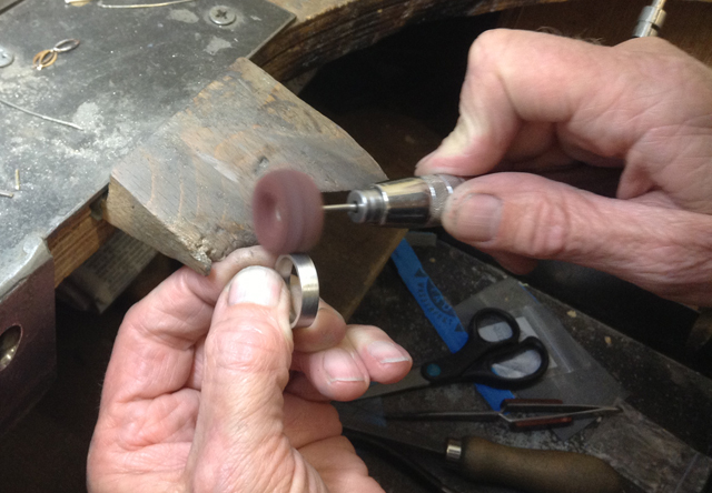 Skilled hands of Jewellery Repair Expert Paul